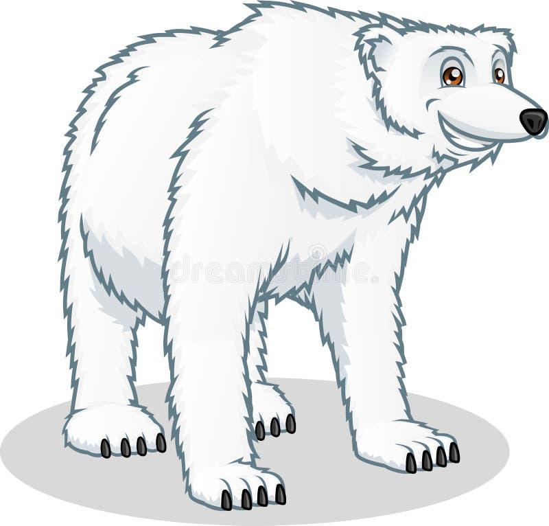 Högkvalitativ illustration för isbjörnvektortecknad film vektor illustrationer