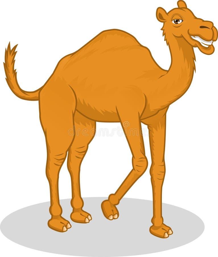 Högkvalitativ illustration för kamelvektortecknad film stock illustrationer