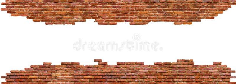 Högkvalitativ som textur av tegelstenväggen isoleras på vit arkivbilder