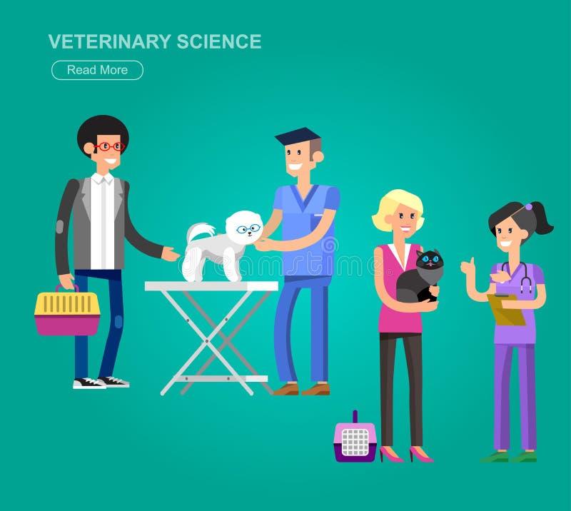 högkvalitativ veterinär för teckendesign royaltyfri illustrationer