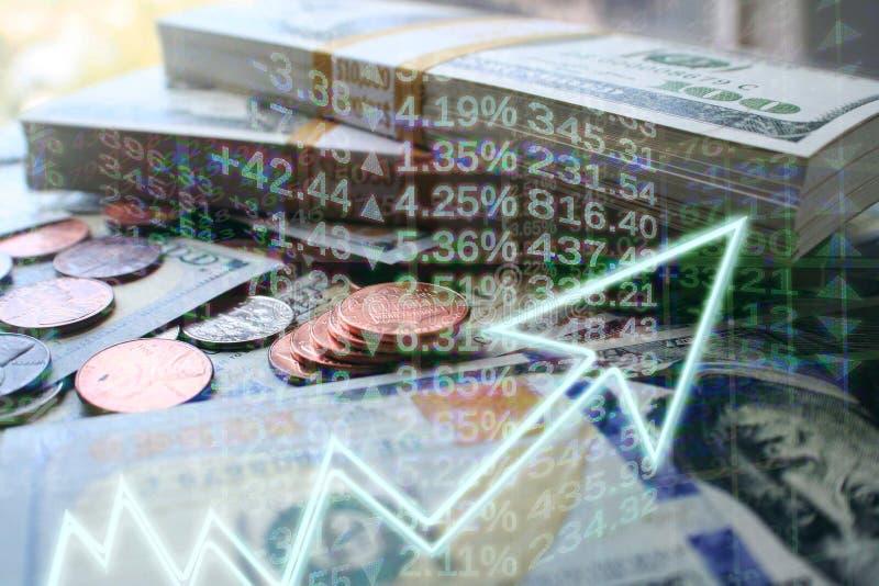 Högkvalitativt affärs- & finansbegrepp av investeringar som växer royaltyfria foton