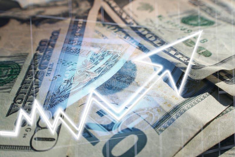 Högkvalitativt affärs- & finansvinstbegrepp arkivbild