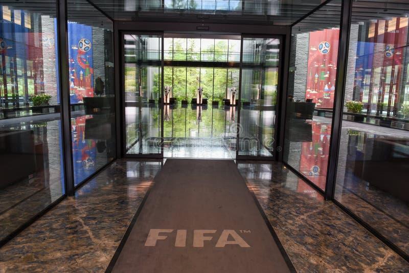 Högkvarter av FIFA på Zurich på Schweiz arkivfoto
