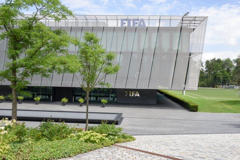 Högkvarter av FIFA på Zurich på Schweiz royaltyfri foto