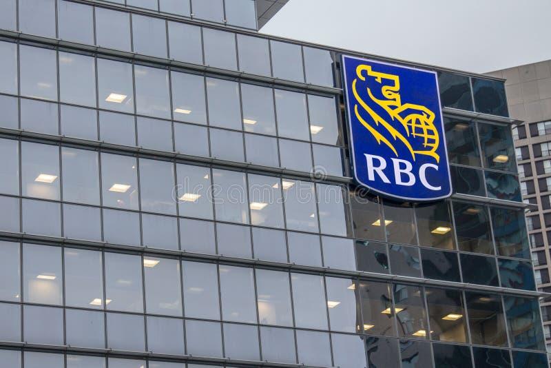 Högkvarter av RBC banken i Toronto arkivfoton
