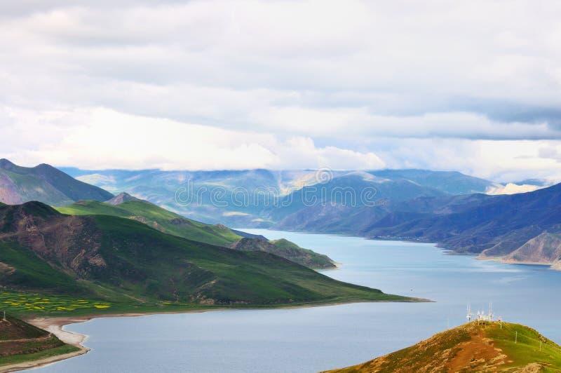 höglands- lakes arkivbild