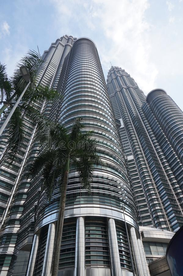 Högre byggnader Asien arkitektur byggande set royaltyfria bilder