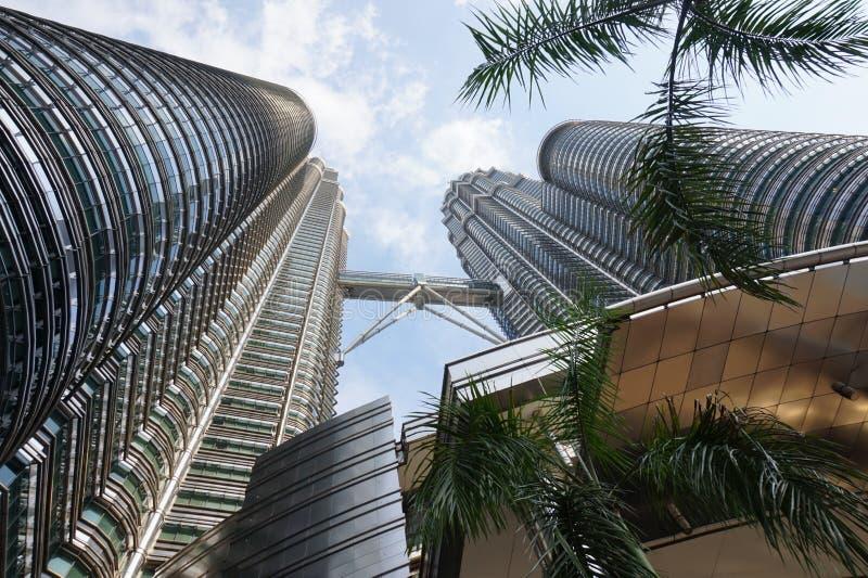 Högre byggnader Asien arkitektur Torres petronas arkivbild