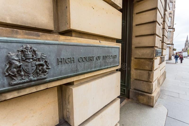 Högre domstol av justiciaryen royaltyfri bild