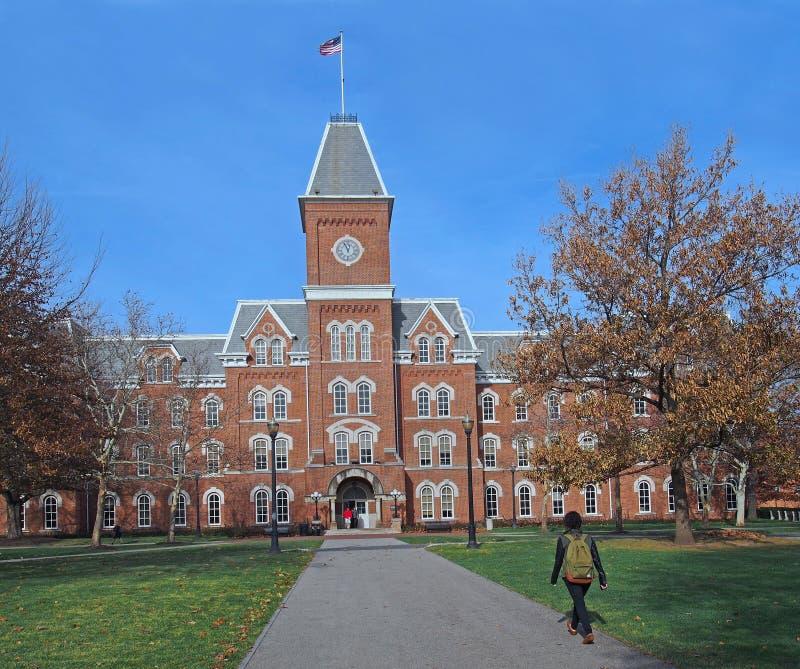 Högskolauniversitetsområde arkivfoton