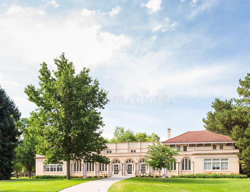 Högskolauniversitetsområde royaltyfri fotografi