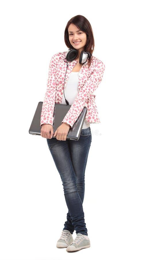 Högskolauniversitetsstudentkvinna royaltyfri fotografi