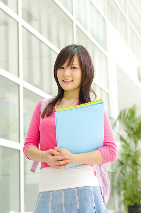 Högskolestudent royaltyfria bilder