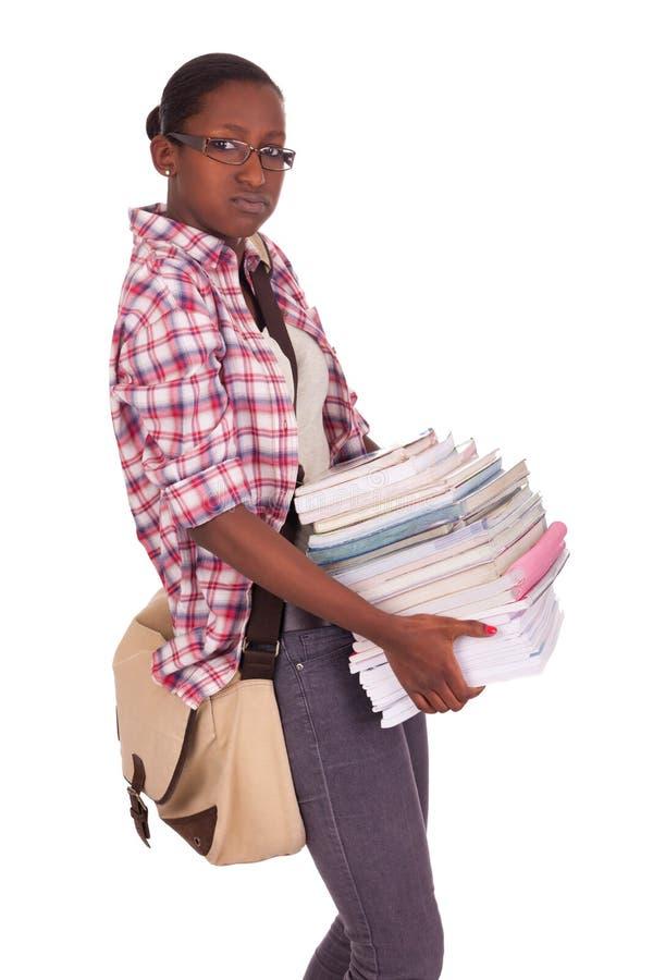 Högskolestudentbarnafrikansk amerikan arkivbilder