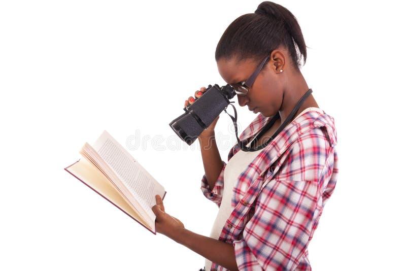Högskolestudentbarnafrikansk amerikan arkivfoton