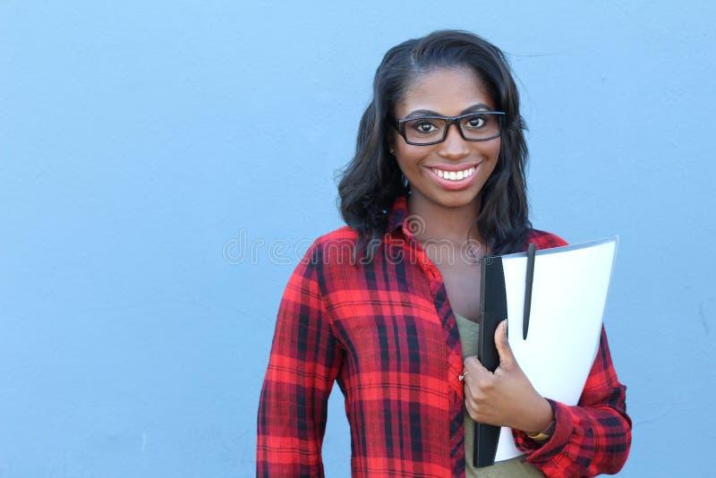 Högskolestudentbarnafrikansk amerikan royaltyfria bilder