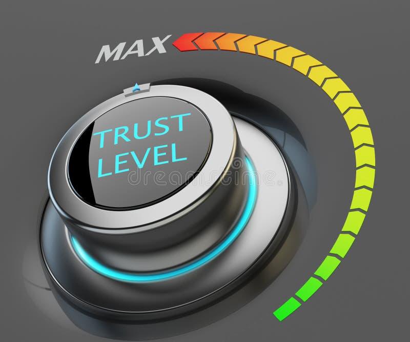 Högst nivå av förtroendebegreppet vektor illustrationer