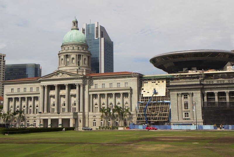 Högsta domstolen av Singapore arkivfoton