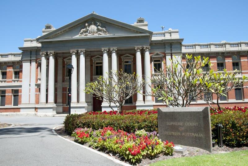 Högsta domstolen i västra Australien fotografering för bildbyråer