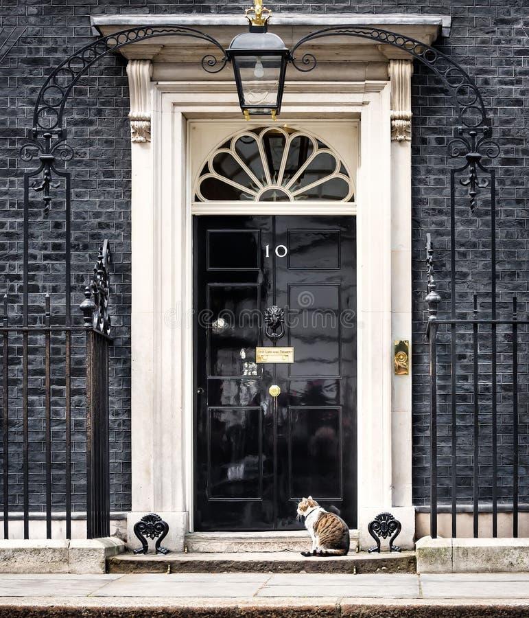 Högsta råttfångarekatt för Downing Street 10 arkivfoton