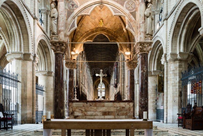Högt altare B för Peterborough domkyrka arkivfoton
