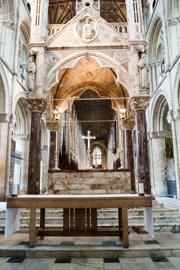 Högt altare A för Peterborough domkyrka arkivbild