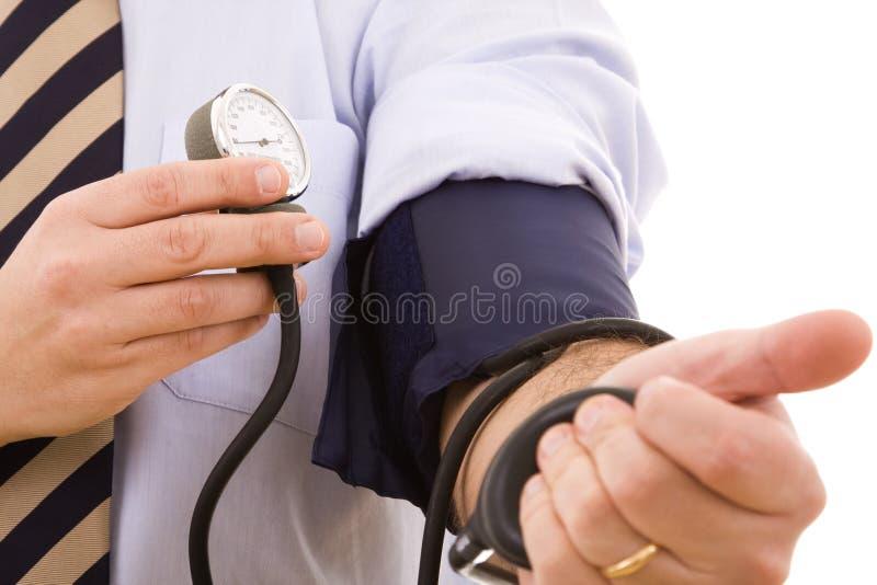 högt blodtryckprov royaltyfri bild