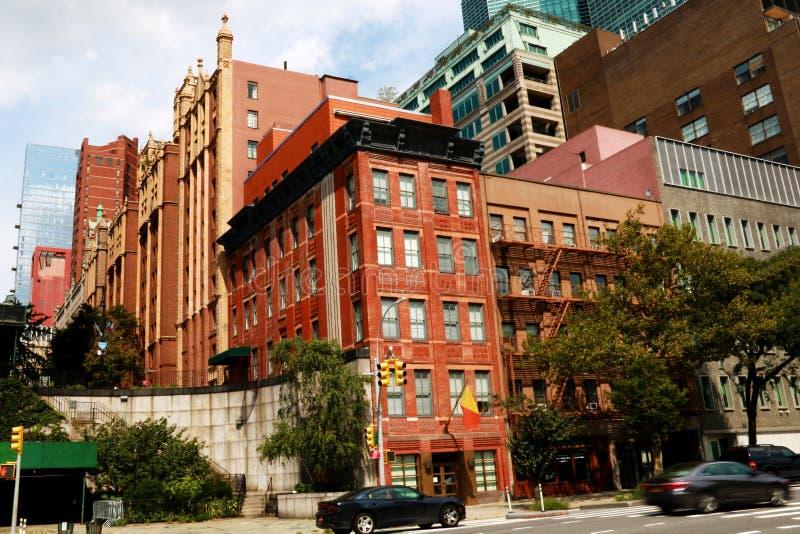Högt bostads- och kontorsbyggnader i New York, USA royaltyfri fotografi