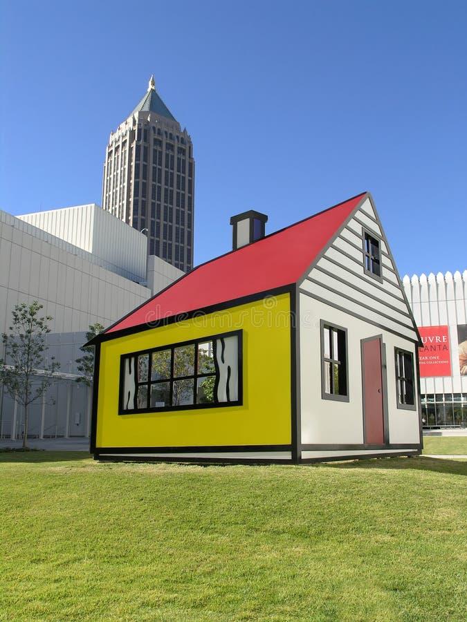 högt husmuseum för barn royaltyfri bild