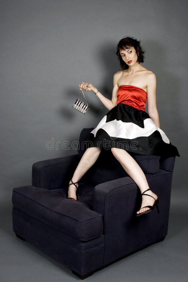 Download Högt mode arkivfoto. Bild av rött, örhängen, kvinnlig, person - 991978