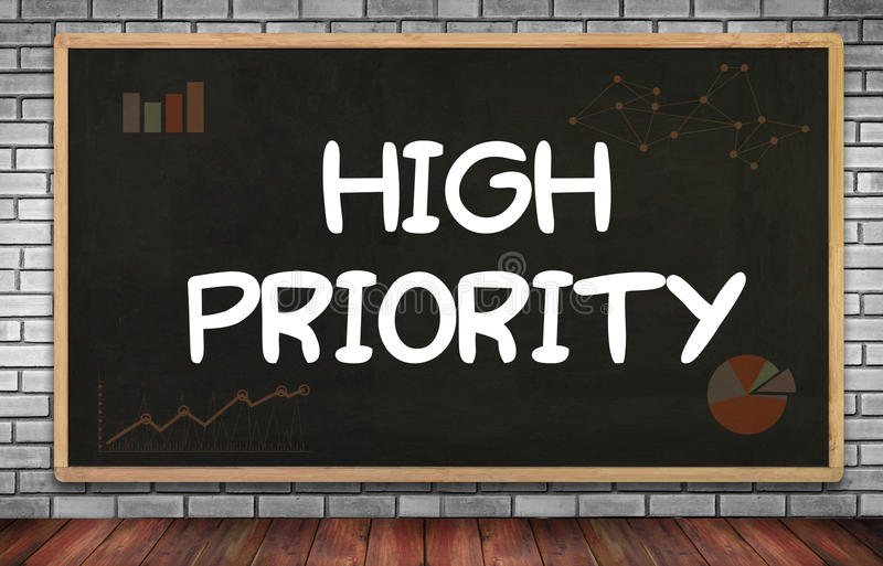 Högt - prioritet royaltyfri fotografi