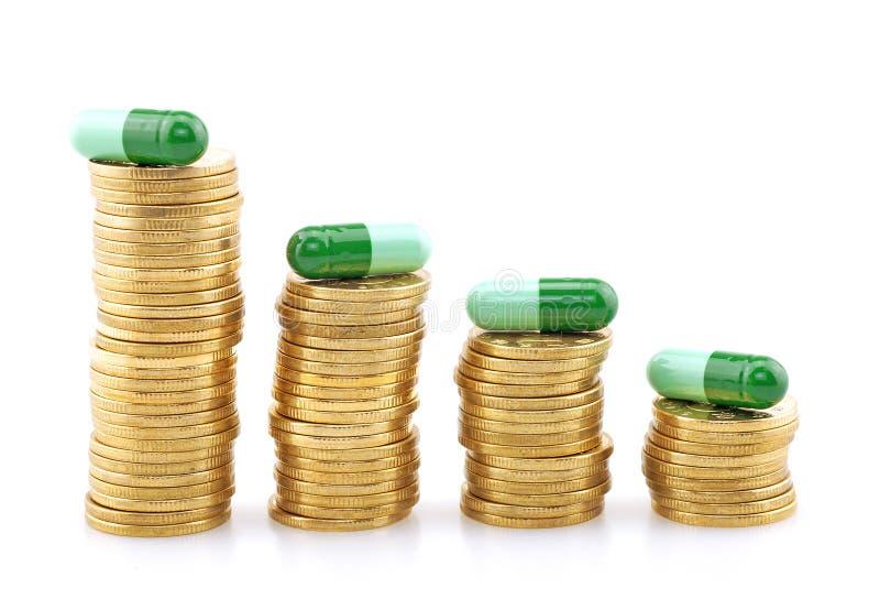 Högt pris av drogen arkivbild