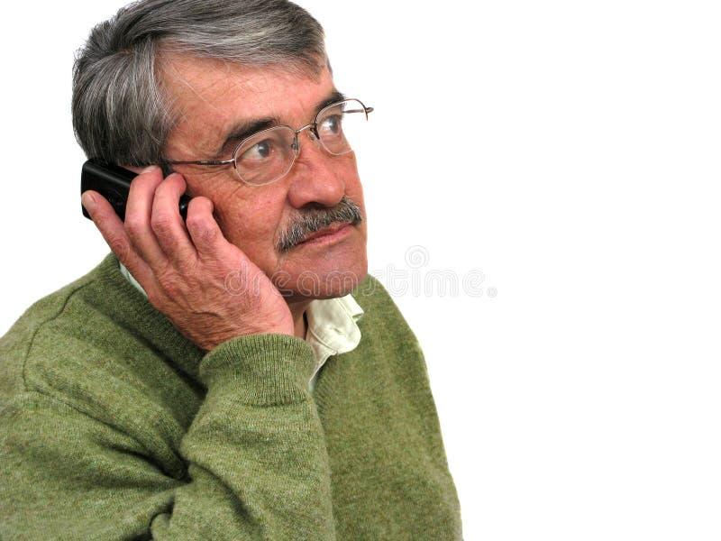 högt samtal för affärsman royaltyfri foto