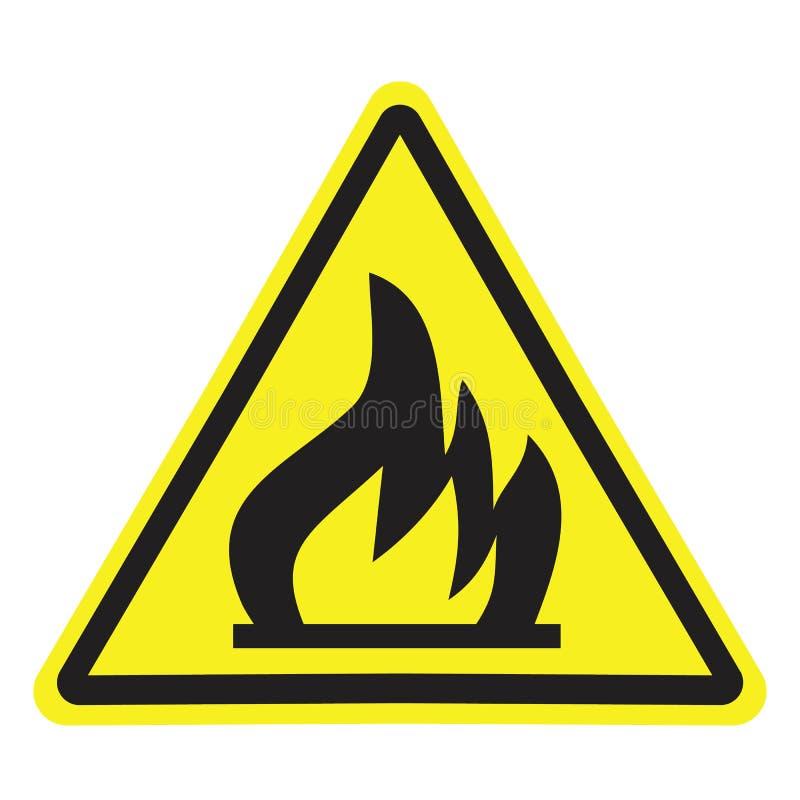Högt spänningstecken Farasymbol varningssymbol stock illustrationer