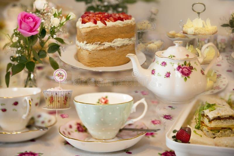Högt te för specialt tillfälle royaltyfri foto