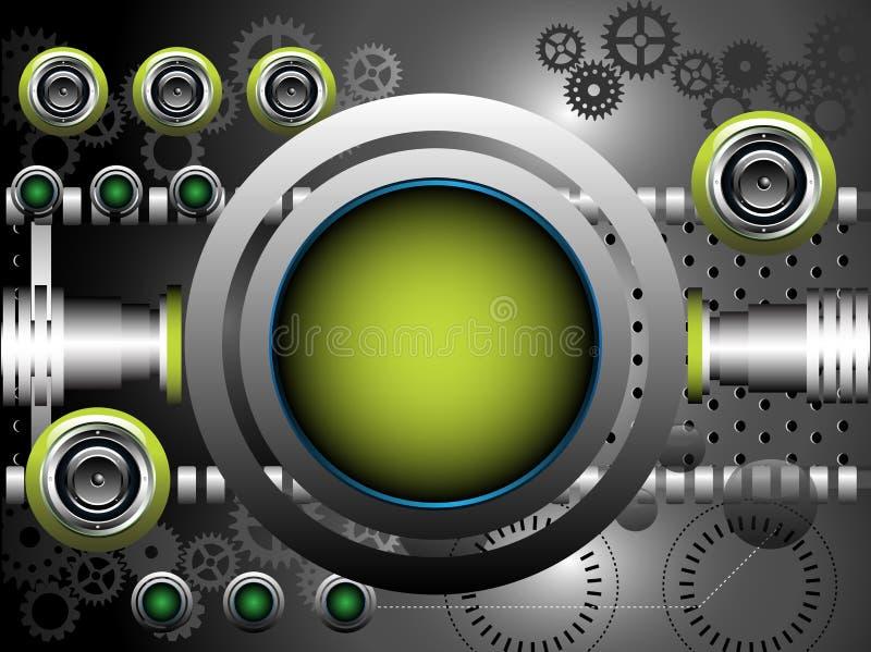Högt - techbakgrund royaltyfri illustrationer