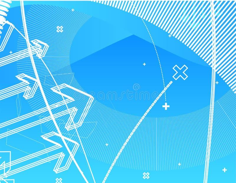 högt - techwallpaper vektor illustrationer