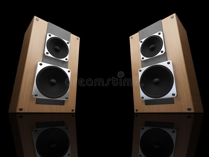 högtalare stock illustrationer