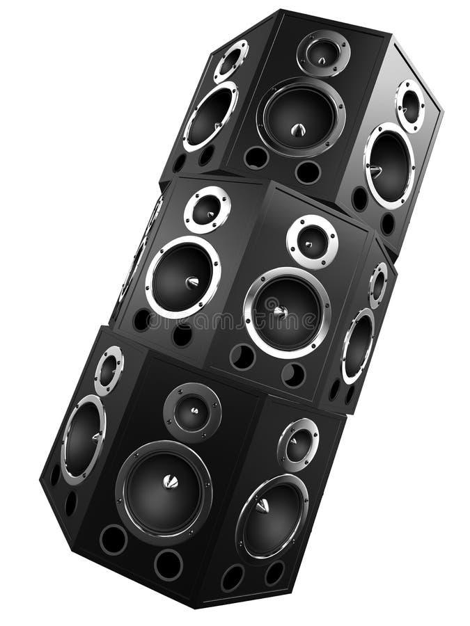 högtalare 3d vektor illustrationer
