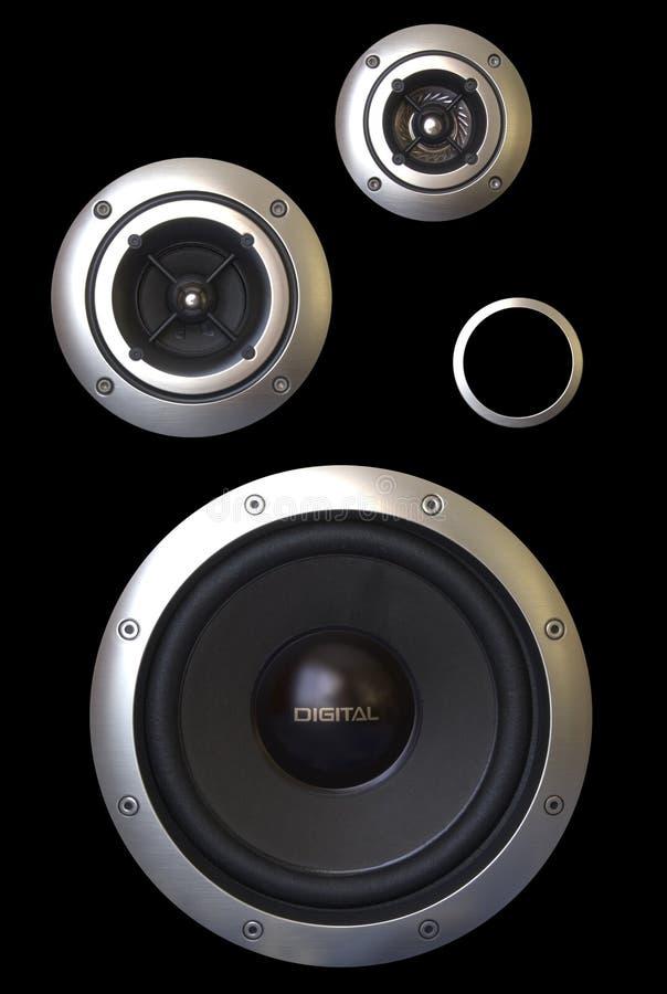 högtalare tre arkivfoto