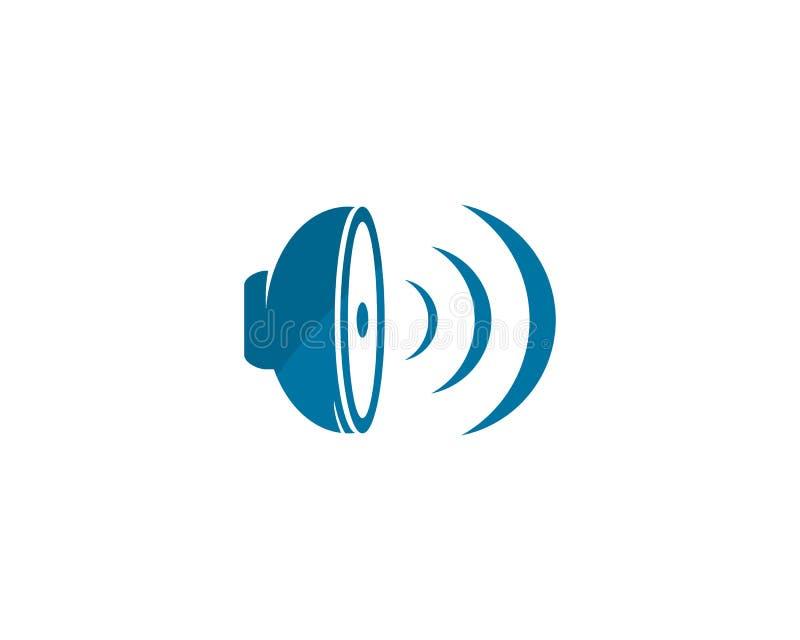 högtalarelogo vektor illustrationer
