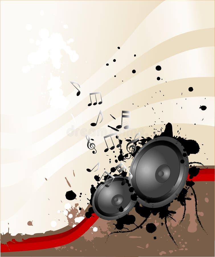 högtalaretema vektor illustrationer