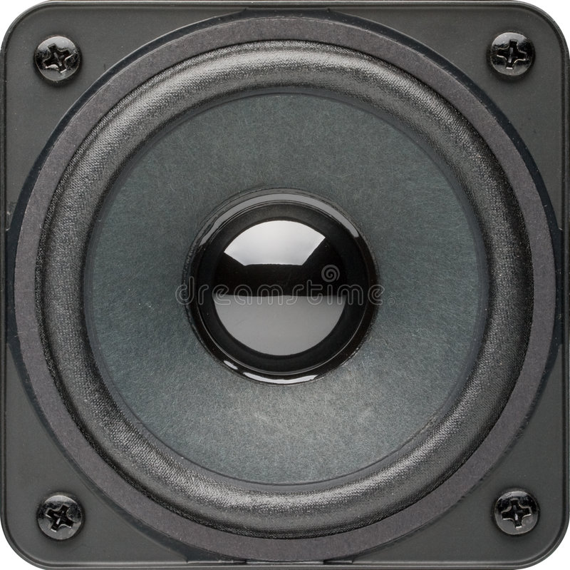 högtalarewhite arkivbild