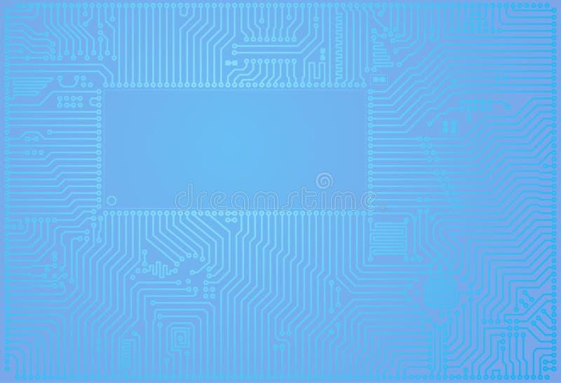 Högteknologisk backgro för bräde för strömkrets för vektorabstrakt begreppblått stock illustrationer