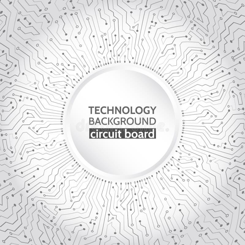 Högteknologisk datateknik på den gråa bakgrunden vektor illustrationer