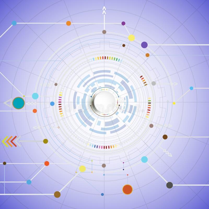 Högteknologisk digital och för tekniktelekomar satellit- teknologi, vektor illustrationer