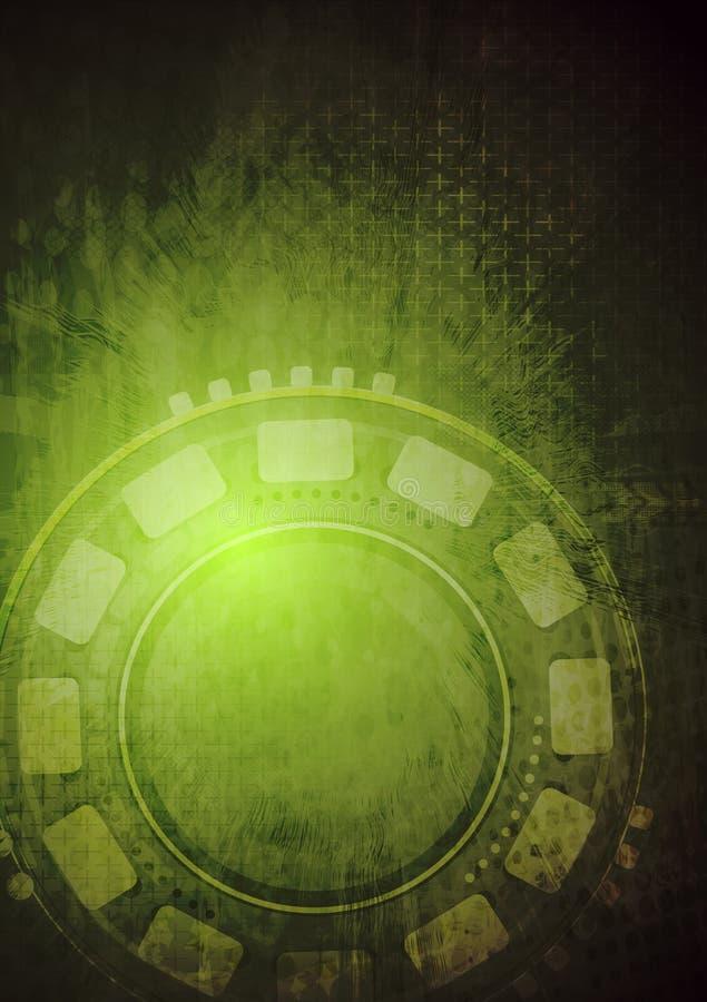 Högteknologisk grungevektorbakgrund royaltyfri illustrationer