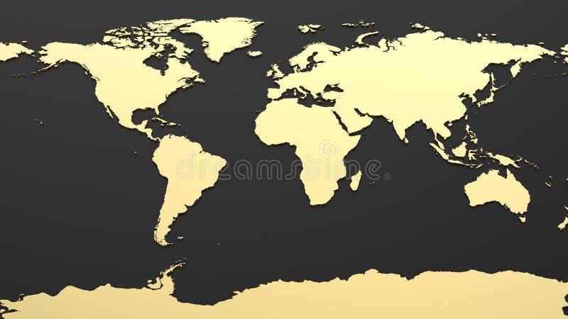 Högteknologisk världskarta royaltyfria foton