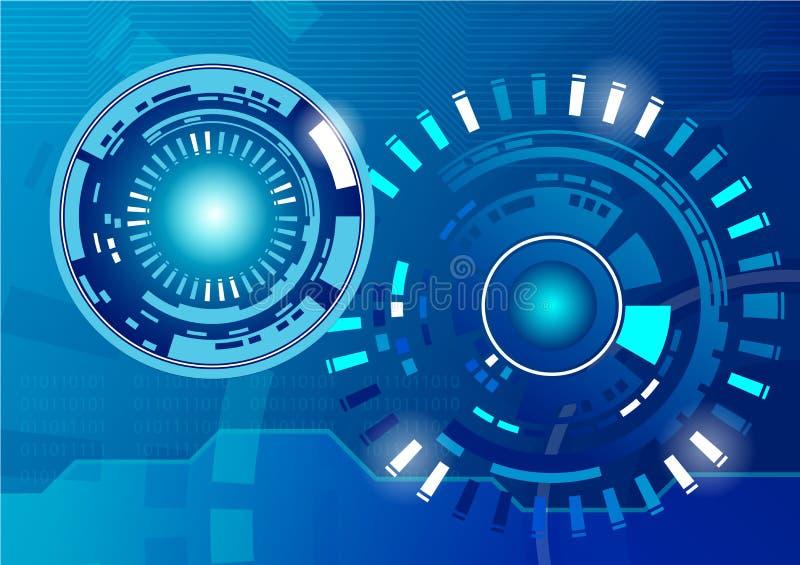Högteknologiskt teknologibegrepp, abstrakt bakgrund stock illustrationer