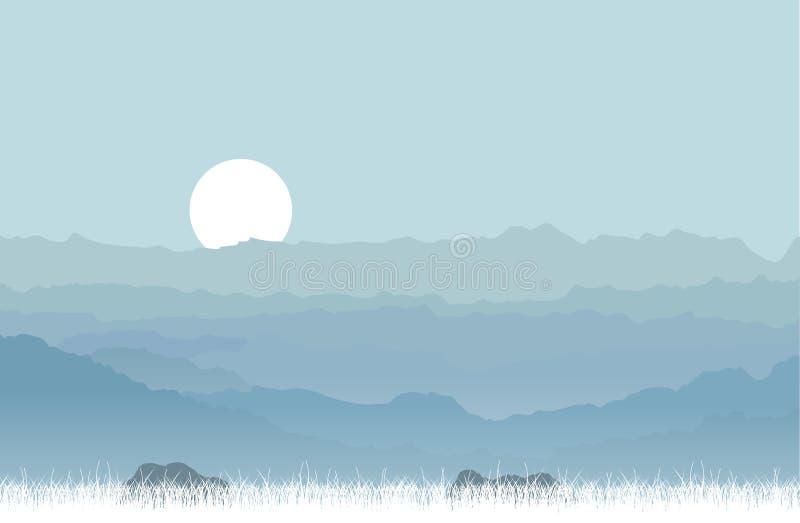 högtidliga berg vektor illustrationer